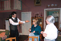 "Actors take the stage in ""Arsenic and Old Lace""."